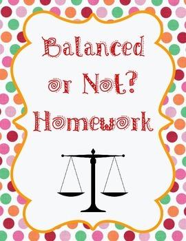 Balanced or Not? Homework