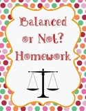Balanced or Not? Homework