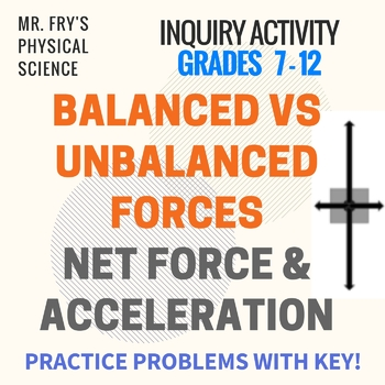 Balanced vs Unbalanced Forces - Practice Problems - Net Force & Acceleration