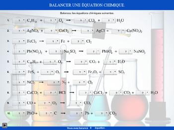 Balancement d'une équation chimique-2