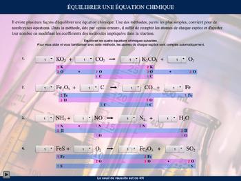 Balancement d'une équation chimique