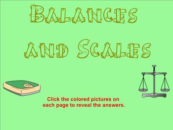 Balances and Scales Algebra Smartboard Lesson