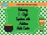 Balancing 1-Digit Equations Math Center (March)