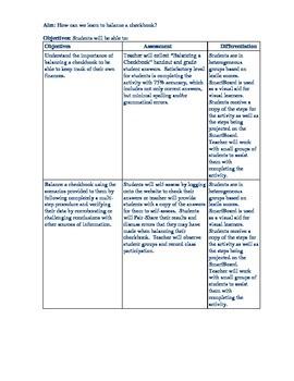 balancing a check book lesson by creativeclassroomco tpt