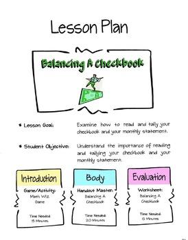 Balancing A Checkbook Lesson