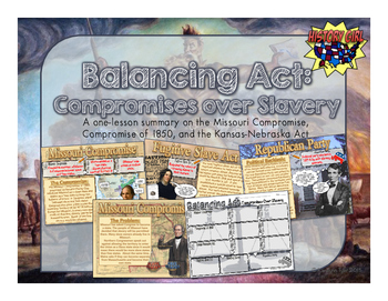 Balancing Act: Compromises Over Slavery PowerPoint and Infographic