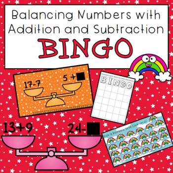 Balancing Addition and Subtraction BINGO