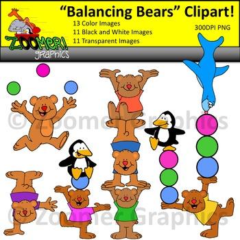 Balancing Bears Clipart