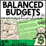 Balancing Budgets Financial Literacy Unit