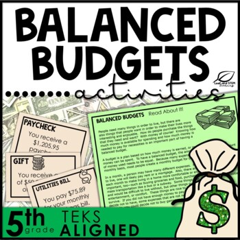 Balancing Budgets Financial Literacy Unit