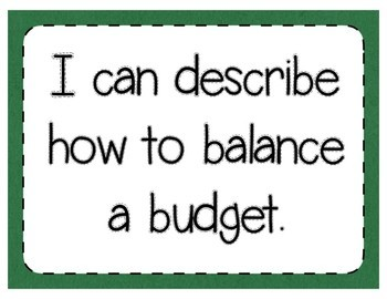 Balancing Budgets Interactive Notebook Activity & Quick Check TEKS 5.10E & 5.10F