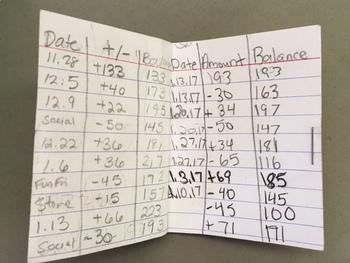 balancing a check book teaching resources teachers pay teachers