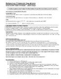 Balancing Chemical Equations (1 of 2)