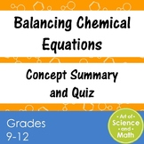Balancing Chemical Equations - High School Science