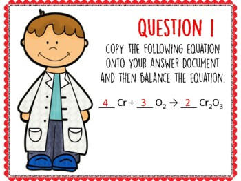 Balancing Chemical Equations #2 QR Code Hunt (Content Review or Notebook Quiz)