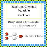 Balancing Chemical Equations Card Sort NGSS MS-PS1-5