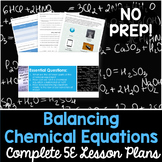Balancing Chemical Equations Complete 5E Lesson Plan - Distance Learning