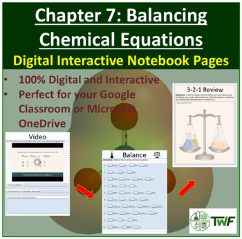 Balancing Chemical Equations - Digital Interactive Notebook Pages