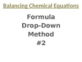 Balancing Chemical Equations: Formula Drop-Down #2