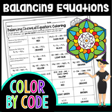 Balancing Chemical Equations Color By Number   Science Color By Number