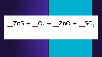 Balancing Chemical Equations Game