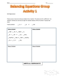 Balancing Chemical Equations Group Whiteboard Activity