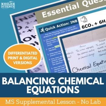 Balancing Chemical Equations - No Lab