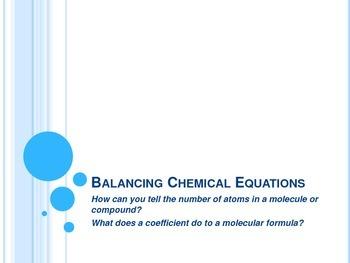 Balancing Chemical Equations Notes - Interactive Notebook