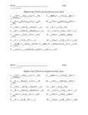 Balancing Chemical Equations Pop Quiz