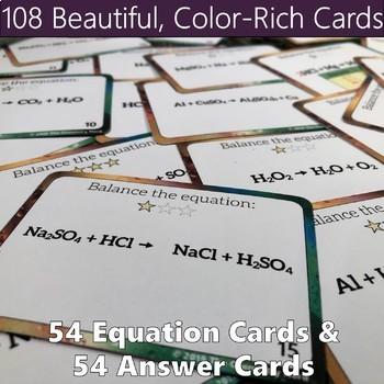 Balancing Chemical Equations Printable Task Card Activity