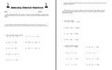 Balancing Chemical Equations Reactions