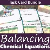 Balancing Chemical Equations Task Card Bundle (Printable and Digital)