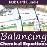 Balancing Chemical Equations Task Card Bundle (Printable a