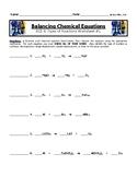 Balancing Chemical Equations Worksheet #1