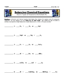 Balancing Chemical Equations Worksheet #1