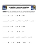 Balancing Chemical Equations Worksheet #3