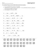 Balancing Chemical Equations Worksheet Part 2