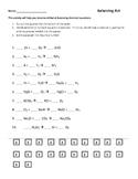 Balancing Chemical Equations Worksheets (Combo)