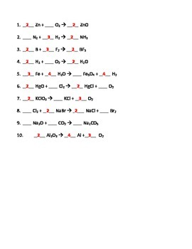 Balancing Chemical Equations Worksheets (Combo) by Seriously Science