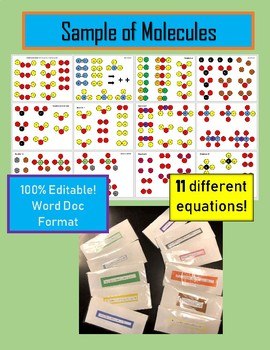 Balancing Chemical Reactions Equations Matching Activity Conservation of Matter