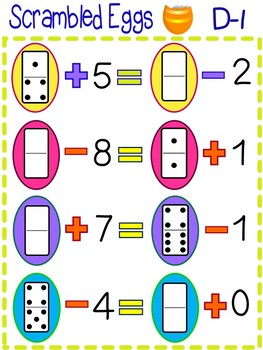 Balancing Equation Games Using Dominoes is Hands-On Fun