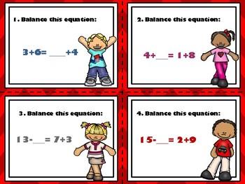 Balancing Equation Task Cards