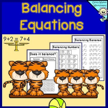 Balancing Equations  Addition Worksheets And Printables By Olivia
