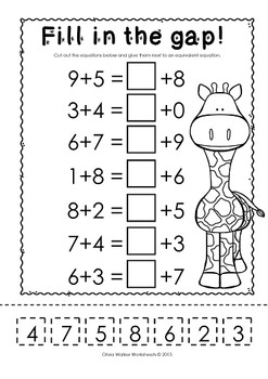 Balancing Equations - Addition Worksheets and Printables
