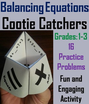 Balancing Equations Practice/ Balancing Equations Game 1st 2nd 3rd Grade