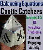 Balancing Equations Activity 1st 2nd 3rd Grade Cootie Catcher Review Game