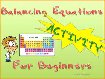 Balancing Equations- A Beginner's Manipulative Activity