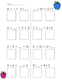 Balancing Equations - Addition - Common Core