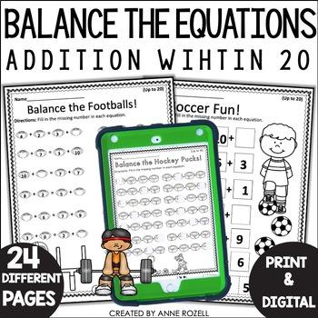 Balancing Equations- Addition Worksheets