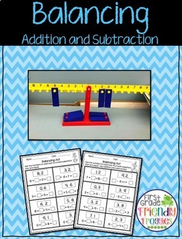 Balancing Equations - Addition and Subtraction
